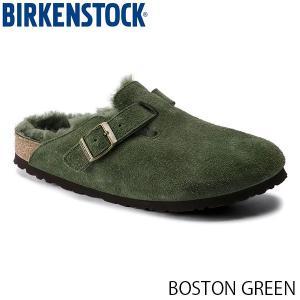 ビルケンシュトック メンズ レディース サンダル ボストン BOSTON GREEN スエード 幅狭 BIRKENSTOCK GC1014245 国内正規品|geak