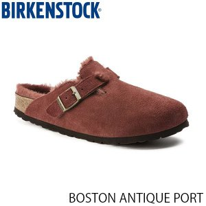 ビルケンシュトック メンズ レディース サンダル ボストン BOSTON ANTIQUE PORT スエード 幅狭 BIRKENSTOCK GC1014875 国内正規品|geak