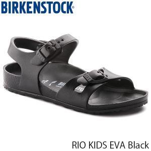 ビルケンシュトック キッズ サンダル リオ RIO EVA エヴァ エバ 男の子 女の子 子供 子ども ジュニア 幅狭 ブラック 黒 BIRKENSTOCK GE126113K 国内正規品|geak