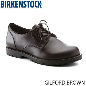 ビルケンシュトック メンズ シューズ ギルフォード GILFORD BROWN ナチュラルレザー 幅広 BIRKENSTOCK GS1006262 国内正規品|geak