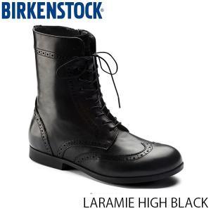 ビルケンシュトック レディース シューズ ララミー LARAMIE HIGH BLACK ナチュラルレザー 幅狭 BIRKENSTOCK GS1006900 国内正規品|geak