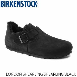 ビルケンシュトック メンズ レディース シューズ ロンドン LONDON SHEARLING SHEARLING BLACK スエード 幅狭 BIRKENSTOCK GS1014961 国内正規品|geak