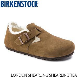 ビルケンシュトック メンズ レディース シューズ ロンドン LONDON SHEARLING SHEARLING TEA スエード 幅狭 BIRKENSTOCK GS1014963 国内正規品|geak