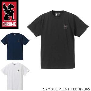 クローム CHROME メンズ 半袖 Tシャツ SYMBOL POINT TEE シンボル ポイント ティー ウェア 男性用 JP045 JP045 国内正規品|geak