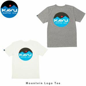 カブー KAVU メンズ Tシャツ マウンテンロゴT 半袖 ロゴ プリント 19820422 KAV19820422 国内正規品|geak