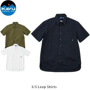 KAVU カブー メンズ 半袖 シャツ ショートスリーブループシャツ ボタンシャツ 19820606 KAV19820606 国内正規品|geak