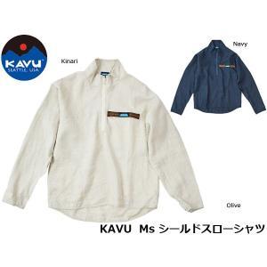 カブー KAVU メンズ シールドスローシャツ 長袖 シャツ 19820610 KAV19820610 国内正規品|geak