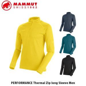 マムート メンズ ハーフジップ 長袖 PERFORMANCE THERMAL ZIP LONG SLEEVE MEN 山登り トレッキング MAMMUT MAM101600090|geak