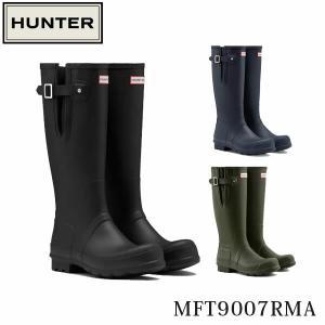ハンター メンズ レインブーツ 長靴 オリジナル サイドアジャスタブル ブーツ 雨靴 雨 雪 靴 通勤 ラバー 雨具 スノーブーツ 防水 HUNTER MFT9007RMA 国内正規品|geak
