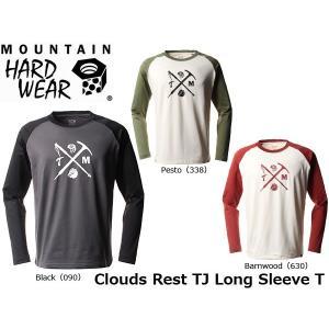 マウンテンハードウェア メンズ スノーウェア Tシャツ TJ Brandコラボ クラウドレストTJ ロングスリーブT 保温性 速乾性 MOUNTAIN HARDWEAR OE2061 国内正規品|geak