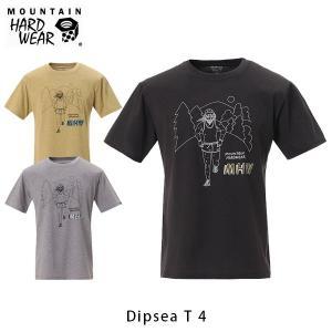 マウンテンハードウェア メンズ ディプシー T4 半袖 Tシャツ プリント クルーネック 吸水速乾 GAIM GRAPHICS 清水将司 デザイン ハイキング OE8215 国内正規品|geak