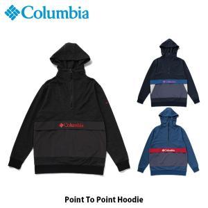 コロンビア Columbia メンズ レディース アウター ポイントトゥーポイントフーディー 長袖 上着 セーター 吸湿速乾 アウトドア キャンプ PM1577 国内正規品|geak