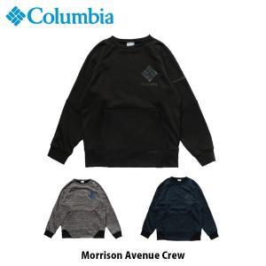 コロンビア Columbia メンズ レディース スウェット クルーネック モリソンアベニュークルー Morrison Avenue Crew ミッドレイヤー 撥水 PM1582 国内正規品|geak