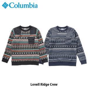 コロンビア Columbia メンズ セーター ラヴェルリッジクルー 長袖 スウェット 吸湿速乾 アウトドア キャンプ カジュアル タウンユース PM1666 国内正規品|geak