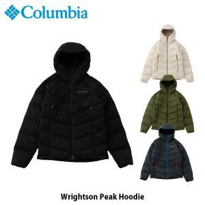 コロンビア Columbia メンズ ダウンジャケット ライトソンピークフーディー Wrightson Peak Hoodie キャンプ アウトドア 上着 アウター PM3288 国内正規品|geak
