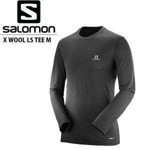 サロモン メンズ 長袖Tシャツ X WOOL LS TEE M ウール L39288800 SALOMON SAL0004|geak
