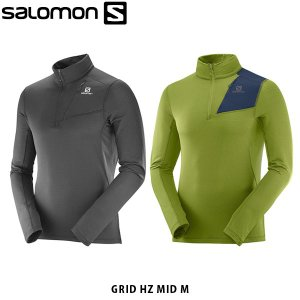 サロモン SALOMON メンズ ハーフジップ GRID HZ MID M ミッドレイヤー アウトドア SAL0035|geak