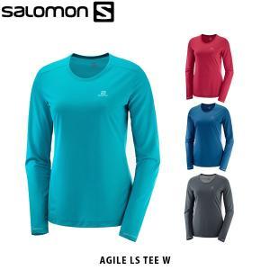 SALOMON サロモン レディース 長袖Tシャツ AGILE LS TEE W ランニング アウトドア LC1158700 LC1158800 LC1159000 LC1159100 SAL0702|geak