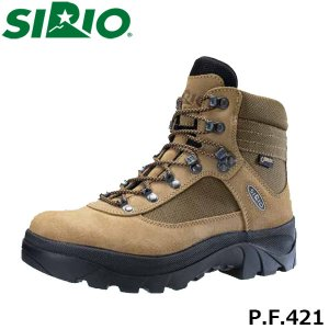 シリオ 登山靴 メンズ レディース トレッキングシューズ P.F.421 ミッドカット ゴアテックス 防水 ブーツ 登山 3E+ 幅広 日本人専用 SIRIO SIRPF421|geak