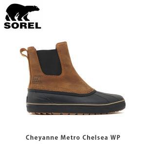 SOREL ソレル メンズ Cheyanne Metro Chelsea WP シャイアンメトロチェルシーWP シューズ 靴 ショートブーツ サイドゴア ウィンターシューズ レザー SORNM3449|geak