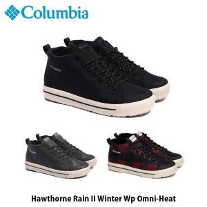 コロンビア Columbia メンズ レディース ホーソンレイン2 ウィンター ウォータープルーフ オムニヒート 靴 スニーカー 防水 アウトドア YU0291 国内正規品|geak