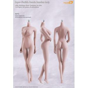 TBLeague 1/6スケール 超柔軟性シームレス 女性 素体 ペールスキン バストサイズL S07C