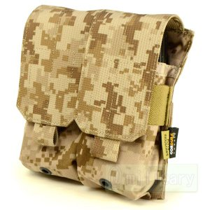 FLYYE MOLLE Double M4/M16 Mag Pouch AOR1 迷彩|geelyy