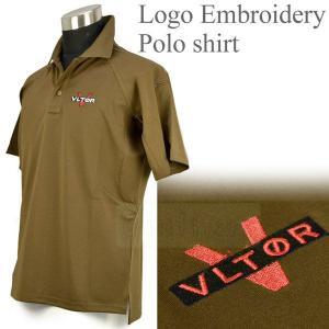 ロゴ入り ポロシャツ ブラウン VLTOR タイプ|geelyy