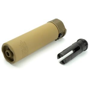 5KU SF SOCOM556-MINI2 タイプ サプレッサー & ハイダー (14mm逆ネジ) デザートカラー|geelyy