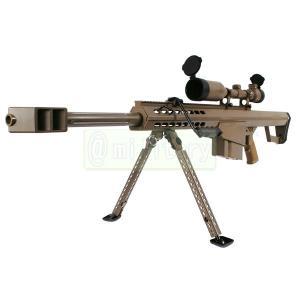 SNOW WOLF バレットM82 CQB FDEカラー 【対物ライフル】 電動フルメタル スコープ&バイポット付属|geelyy