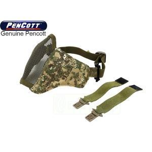 TMC PDW メッシュマスク (ヘルメット取付け用ベルト付属) ペンコットバッドランド迷彩 実物生地使用|geelyy