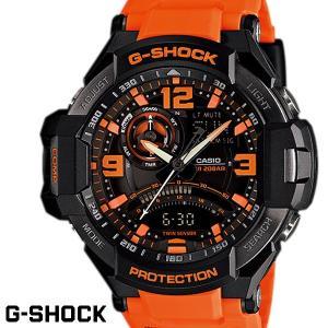 CASIO G-SHOCK ジーショック メンズ 腕時計 GA-1000-4A オレンジ ブラック SKYCOCKPIT OUTLET スカイコックピット