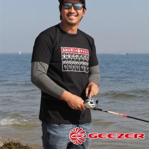 GEEZER 毎日釣りTシャツ ブラック|geezer