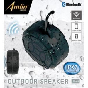 【送料無料】ピーナッツクラブ Audin sound アウトドアスピーカー SP-03 KK-00517BK ブラック  カー用品のWEBいち店