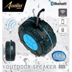 【送料無料】ピーナッツクラブ Audin sound アウトドアスピーカー SP-03 KK-00517BL ブルー カー用品のWEBいち店