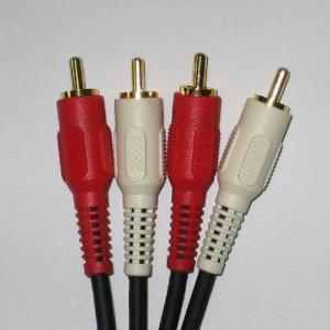 売り切れご免!!オーディオケーブル 5m 1本 ゆうメールご利用で!送料日本全国どこでも一律¥277(税別)!! 赤白2P金色メッキ 音声用 4220-5A あるだけ!!|gekiyasu-cable
