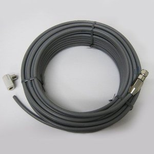 アンテナケーブル S4C-FB 灰 15m 1本 片側防水(屋外用)接栓付 屋内用接栓添付 4401-15G gekiyasu-cable