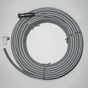アンテナケーブル S5C-FB 灰 15m 1本 片側防水(屋外用)接栓付 屋内用接栓添付 5501-15G gekiyasu-cable