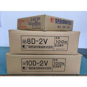 関西通信製 8D-2V 灰 20m 1本 50Ω同軸ケーブル 781-8D2V-20M gekiyasu-cable