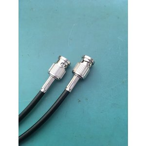 送料無料!!BNCケーブル 2m 1本 3C-2V 黒 両端BNCP付 ゆうメール便ご利用で!日本全国どこでも!!8301-2B|gekiyasu-cable