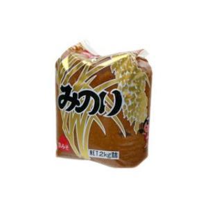 山印醸造 味噌 みのり 赤味噌 ×1ケース 2kg×6袋入り 美味しい味噌 こだわりの味噌|gekiyasuitiba-asia
