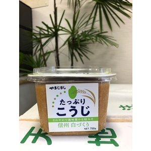 山印醸造 味噌 たっぷりこうじ 白味噌 ×1ケース 750g×6個入り 美味しい味噌 こだわりの味噌|gekiyasuitiba-asia
