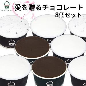 チョコレート ジェラート 8個セット 愛をおくるアイス ジェラート 詰め合わせ アイスクリーム  バレンタイン 母の日 ギフト お祝い gelateria-uno