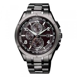 シチズン アテッサ AT8166-59E メンズ 新品 腕時計 ブラック文字盤