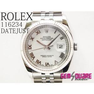 ROLEXロレックスデイトジャスト 白 男腕時計 美品 11...