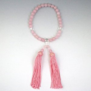 数珠 念珠 じゅず 女性用 天然石 紅水晶 ローズクォーツ|gembazaar|04