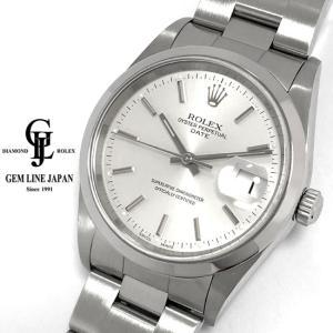 ロレックス オイスター パーペチュアル デイト 15200 A番 シルバー文字盤 メンズ 腕時計