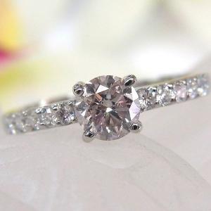 ■材質/プラチナ(Pt900)  ■ピンクダイヤ/0.547ct ■ダイヤモンド/0.20ct ■総...