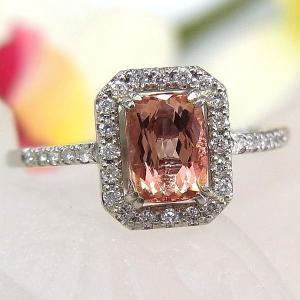 ■材質/プラチナ(Pt900) ■インペリアルトパーズ/1.026ct ■ダイヤモンド/0.15ct...