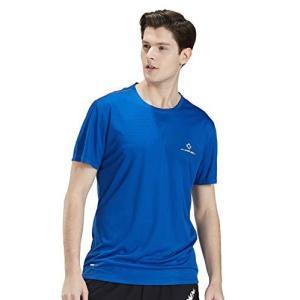 Change Well スポーツ トレーニング シャツ メンズ 半袖 機能性 Tシャツ 速乾 涼感 通気(ブルー,M) gemselect